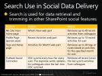 search use in social data delivery