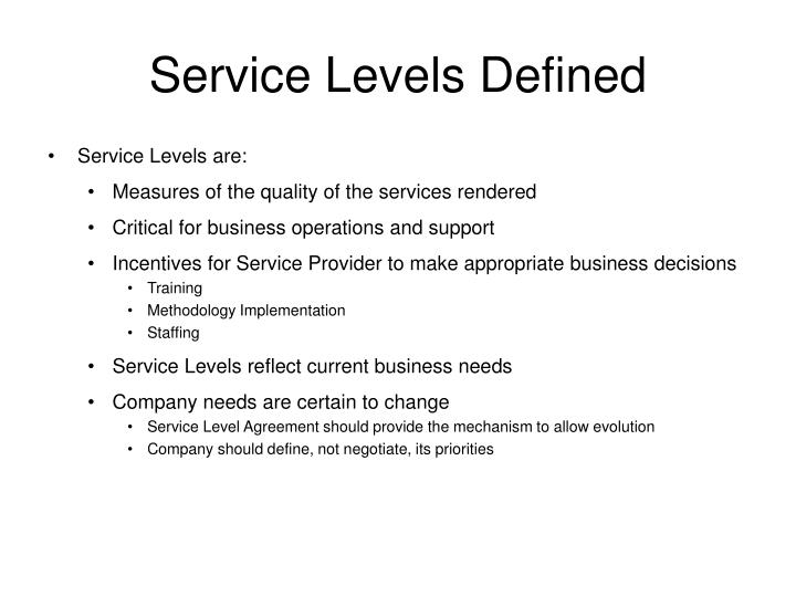 Ppt Service Level Agreements Powerpoint Presentation Id419315
