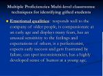 multiple proficiencies multi level classrooms techniques for identifying gifted students17