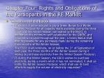 chapter four rights and obligations of the participants in the re market28