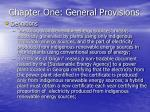 chapter one general provisions17