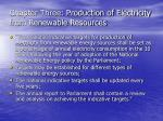 chapter three production of electricity from renewable resources