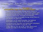 chapter two role of local governments