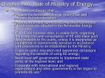 chapter two role of ministry of energy