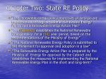 chapter two state re policy