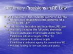customary provisions in re law