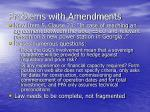 problems with amendments8