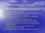 problems with eoi request