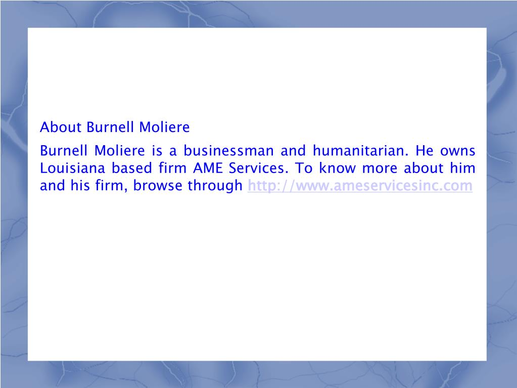 About Burnell Moliere