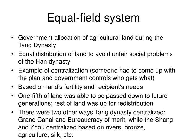 Equal field system