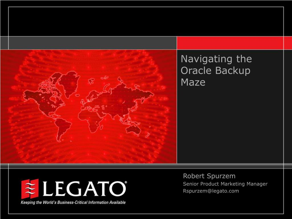 navigating the oracle backup maze l.