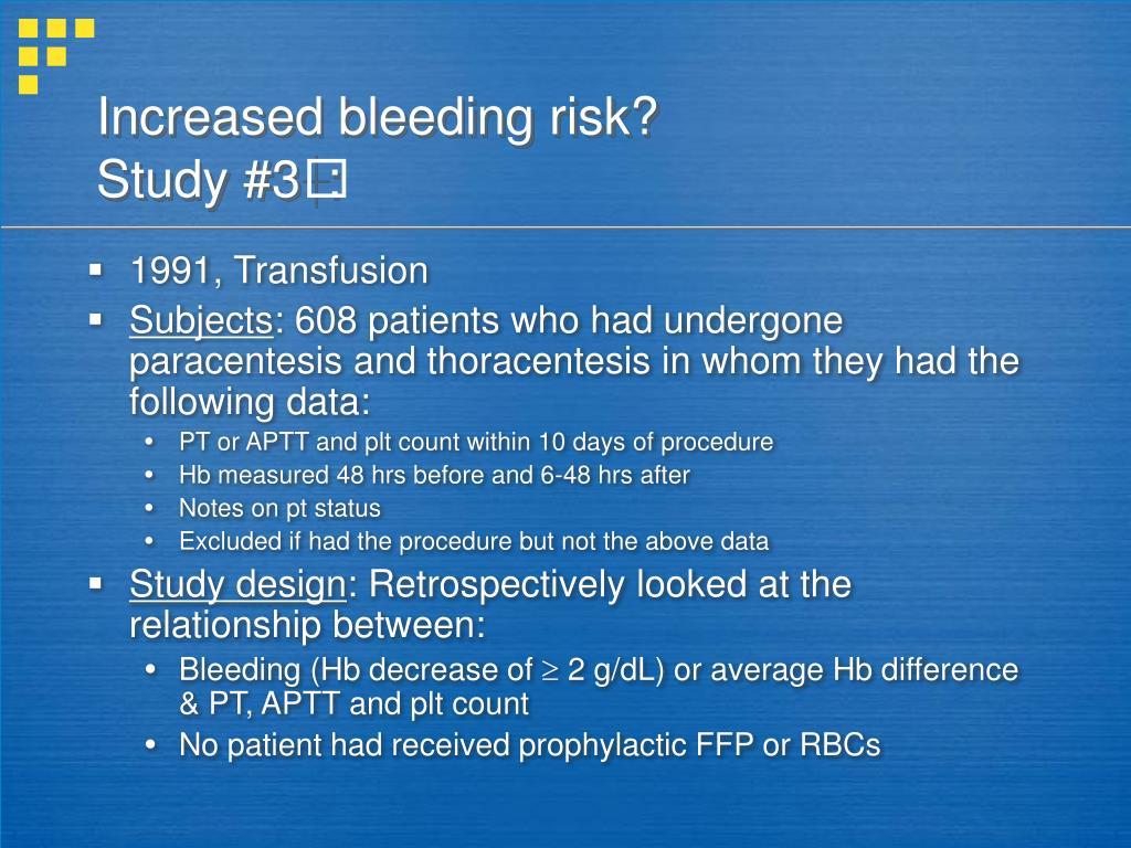 Increased bleeding risk?