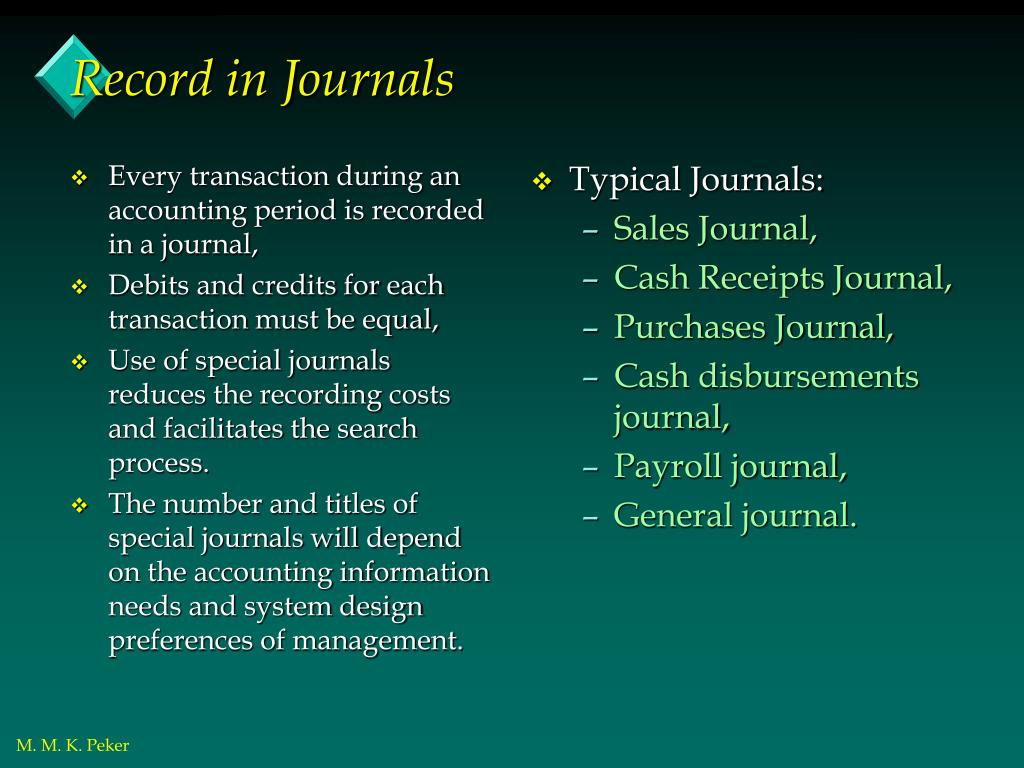 Every transaction during an accounting period is recorded in a journal,