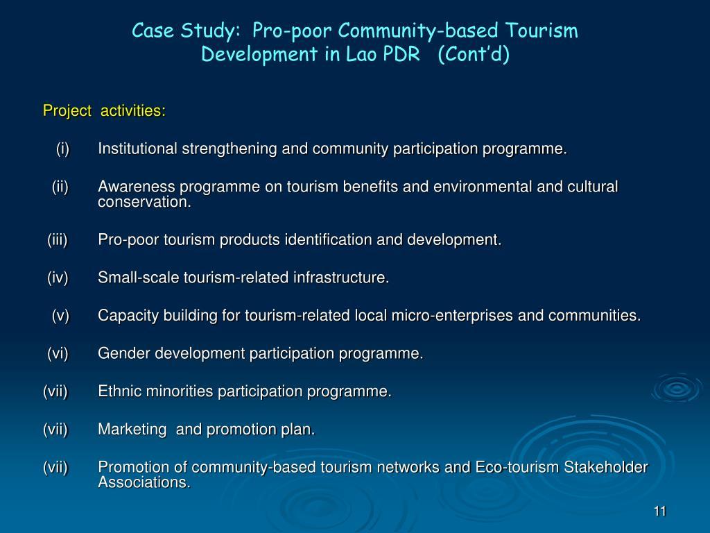Case Study:  Pro-poor Community-based Tourism
