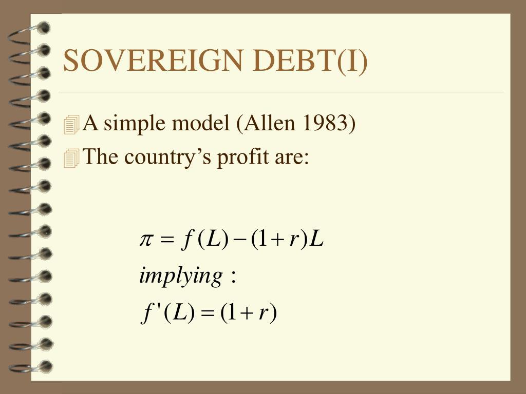 A simple model (Allen 1983)