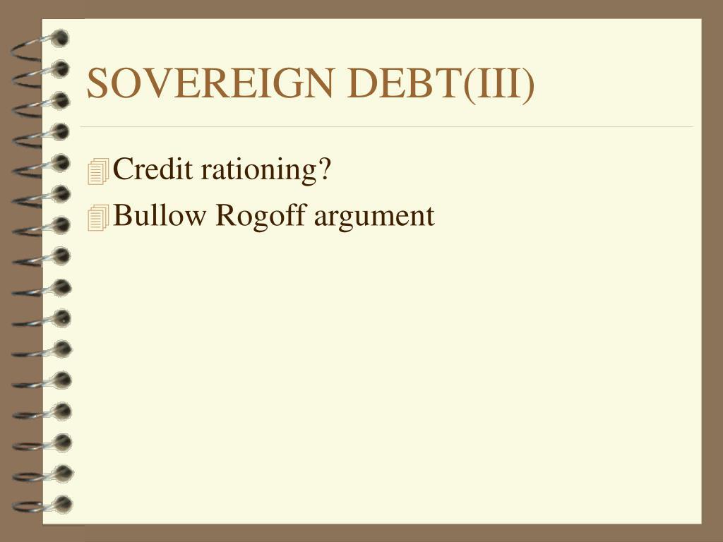 SOVEREIGN DEBT(III)