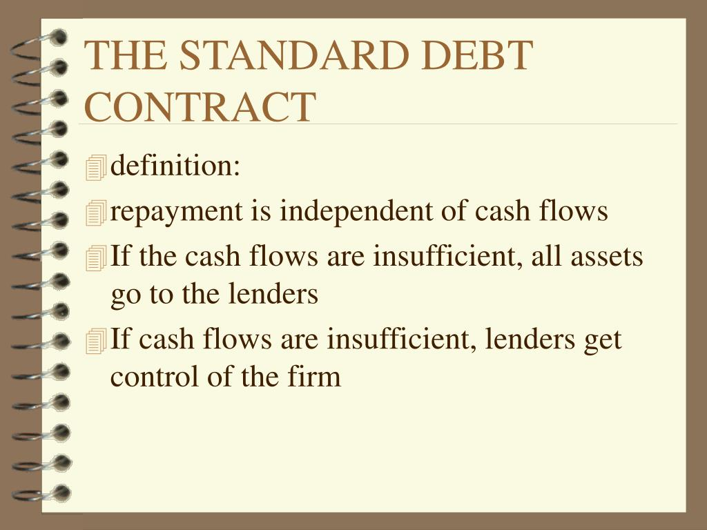 THE STANDARD DEBT CONTRACT
