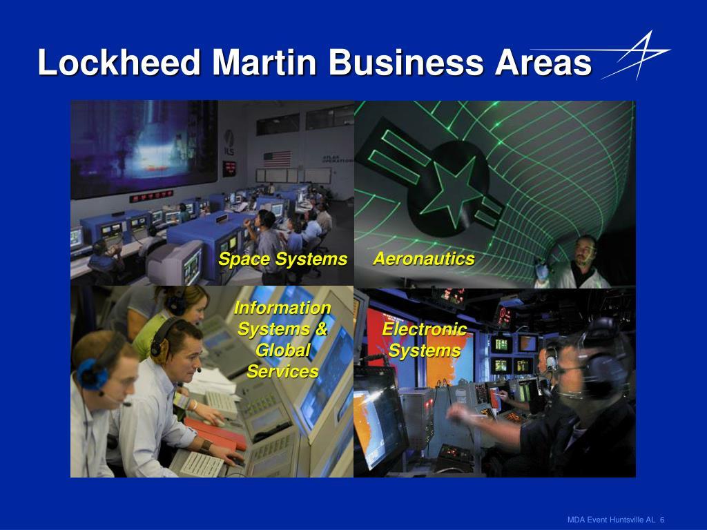 Lockheed Martin Business Areas