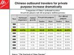 chinese outbound travelers for private purpose increase dramatically