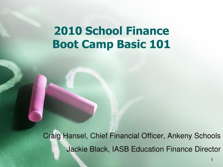 2010 school finance boot camp basic 101 n.