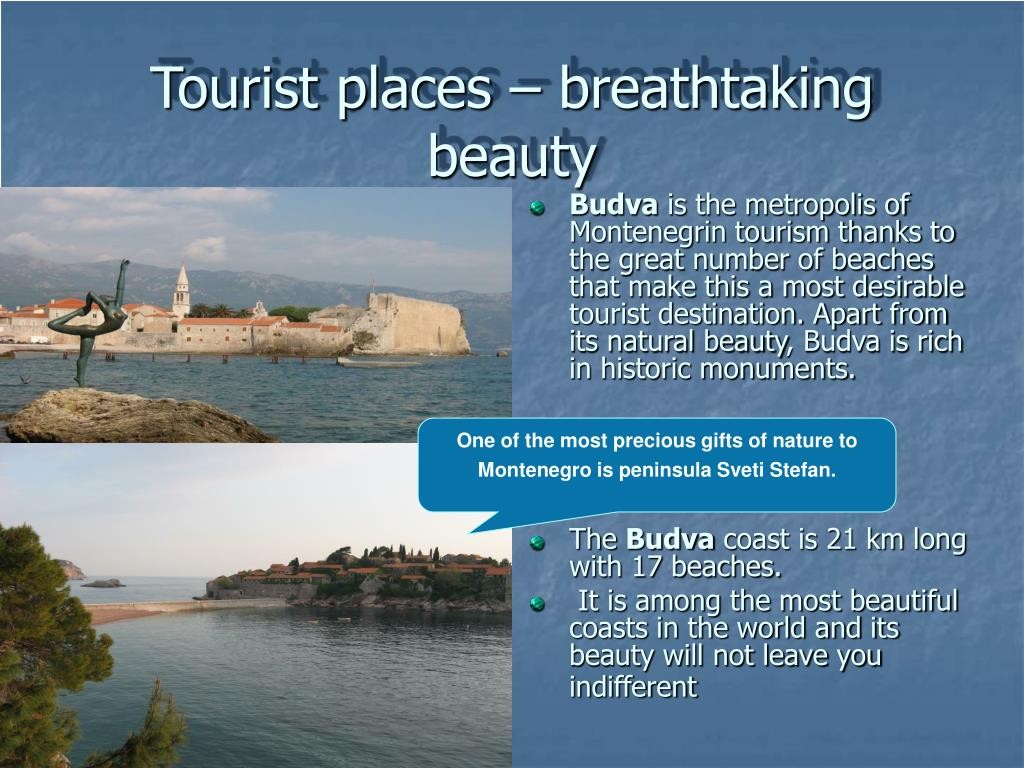 Tourist places – breathtaking beauty