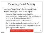 detecting cartel activity