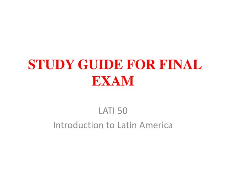 study guide for mid term exam History 340 atlantic revolutions midterm examination study guide possible identifications (50 points): on the exam, four of these terms will appear, you will define and give the significance of two of those four.