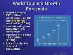 world tourism growth forecasts
