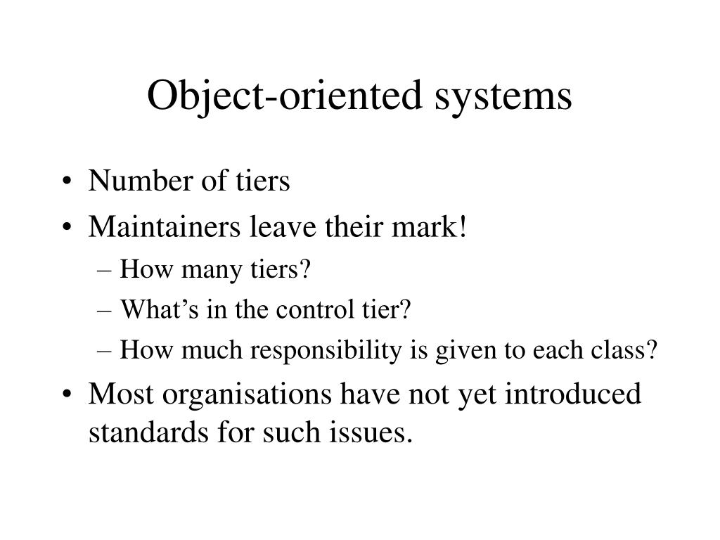 Object-oriented systems