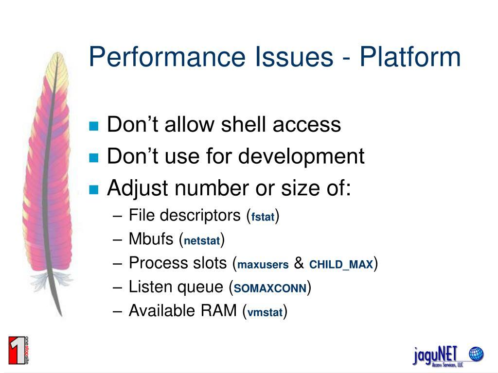Performance Issues - Platform