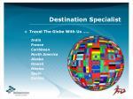 destination specialist