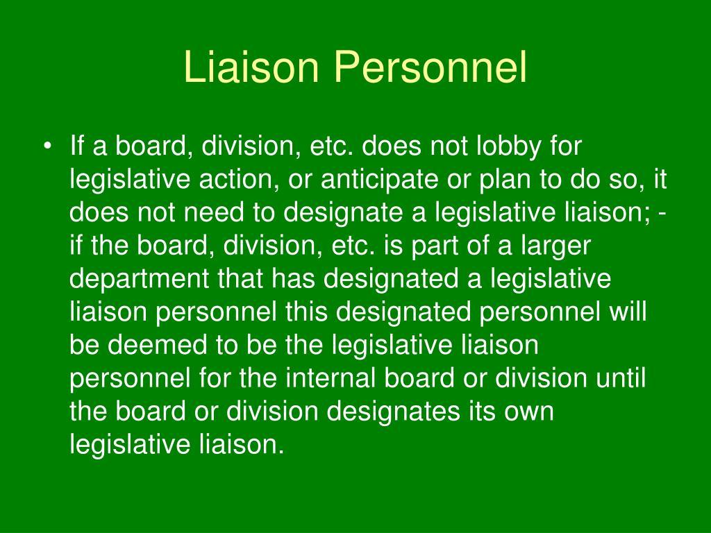 Liaison Personnel