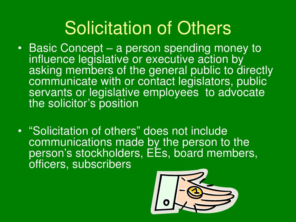 Solicitation of Others