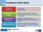 customers want saas