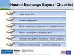 hosted exchange buyers checklist
