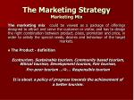 the marketing strategy marketing mix