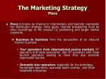 the marketing strategy place