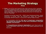 the marketing strategy price