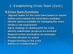 2 establishing crisis team cont