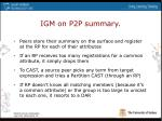 igm on p2p summary
