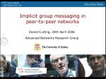 implicit group messaging in peer to peer networks