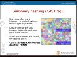 summary hashing casting18