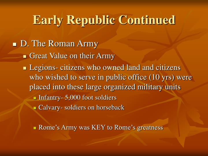 Early Republic Continued