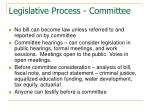legislative process committee