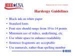 hardcopy guidelines