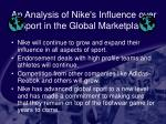 an analysis of nike s influence over sport in the global marketplace