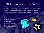 global commercials cont