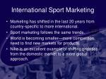 international sport marketing