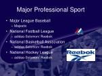 major professional sport