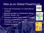 nike as an global powerhouse